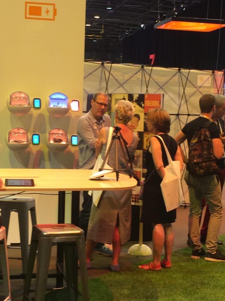 Vivatechnology 0W1 audio on Orange Booth