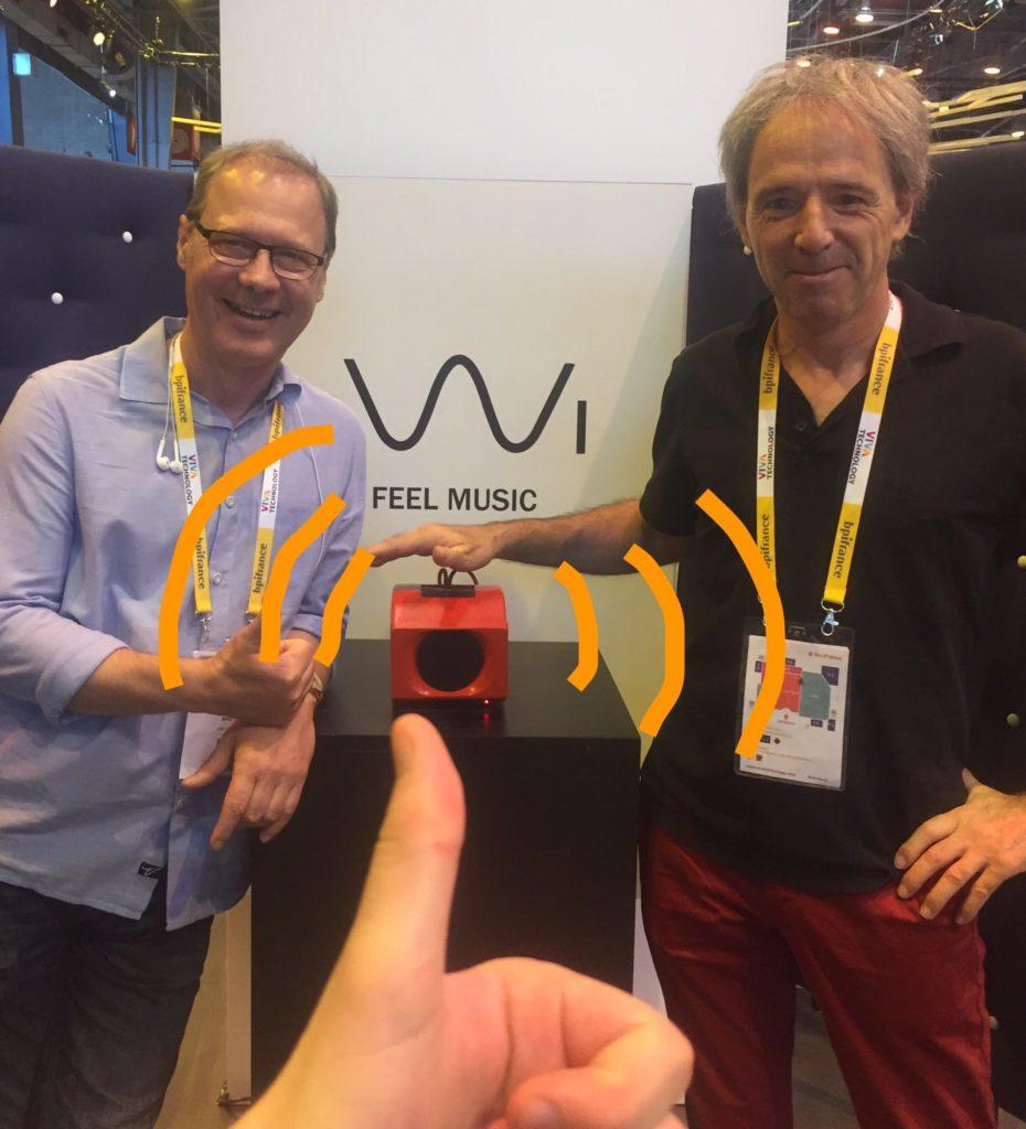 Vivatech Vive 0W1 audio sur le stand Orange